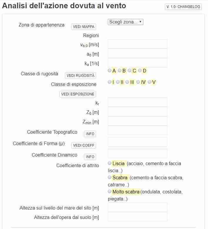 screenshot app carico vento - ingegnerone.com