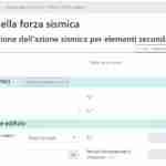 app screen - forza sismica - dati di input- ingegnerone.com